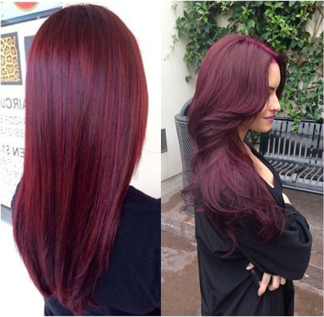 an effortless fall hair color for brunettes raspberry hair color