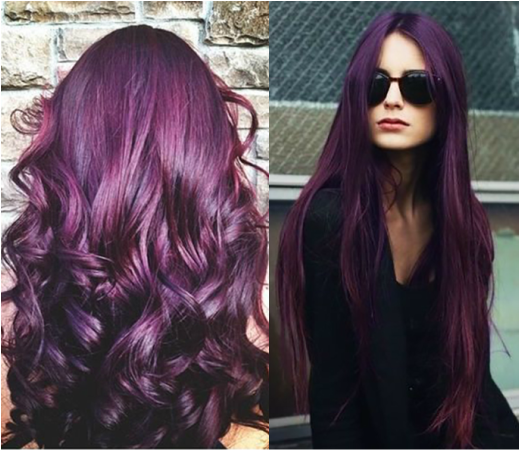 black hair with purple undertone - 600.0KB